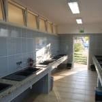Dish washing area